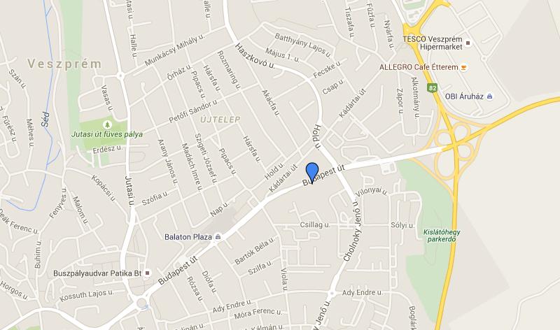 rollupcentrum.hu a térképen